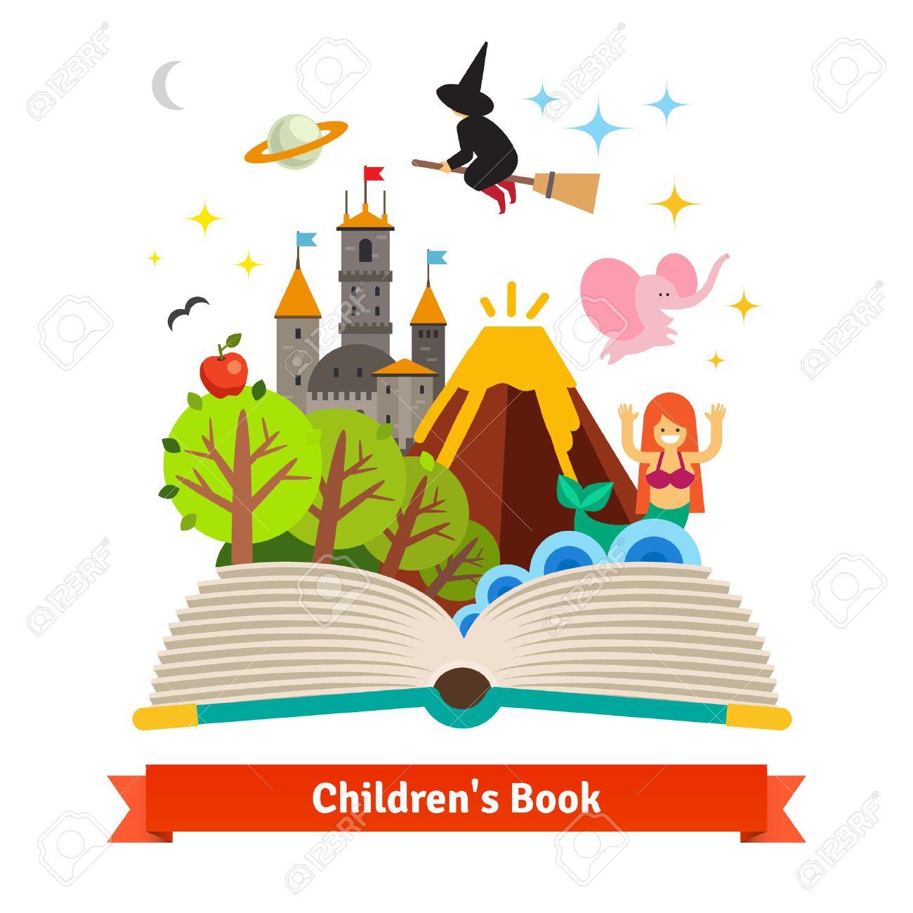 Books clipart fairytale.