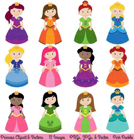 Princess Clipart Clip Art Fairytale Clip Art Clipart by PinkPueblo.