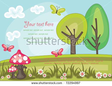 Fairytale Landscape Stock Images, Royalty.