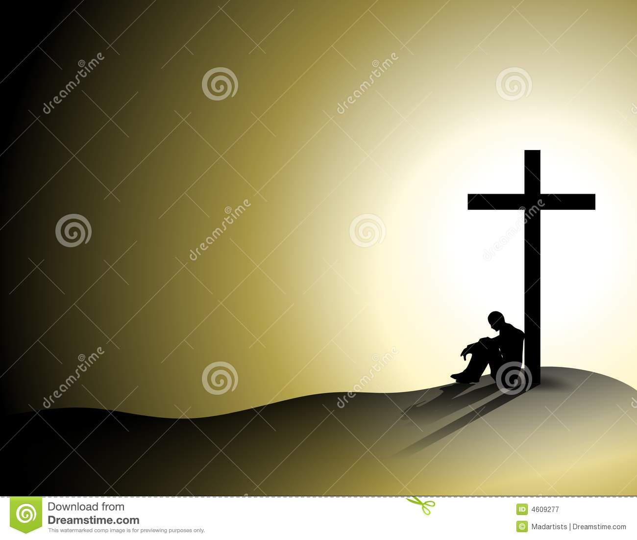 Man Losing Faith In Religion Royalty Free Stock Photography.