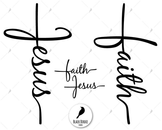 Faith cross svg, Jesus cross svg, faith svg, Jesus svg, Jesus.