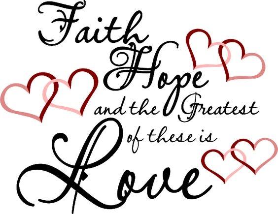 Faith Hope And Love Clipart.