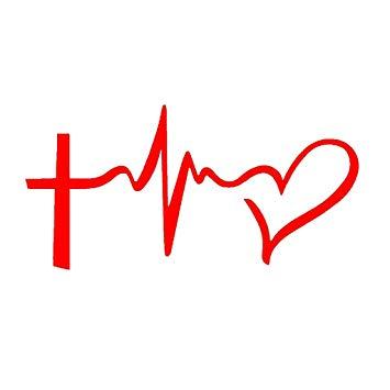 Chase Grace Studio Faith Hope Love Cross Christian Vinyl Decal  Sticker.