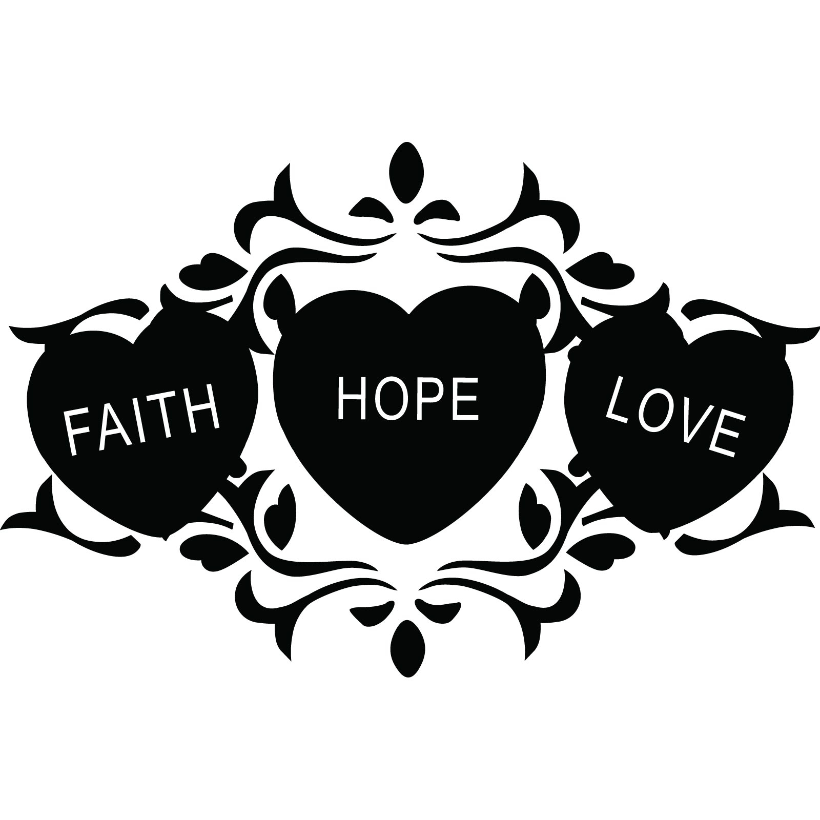 Faith hope love clipart with jesus.