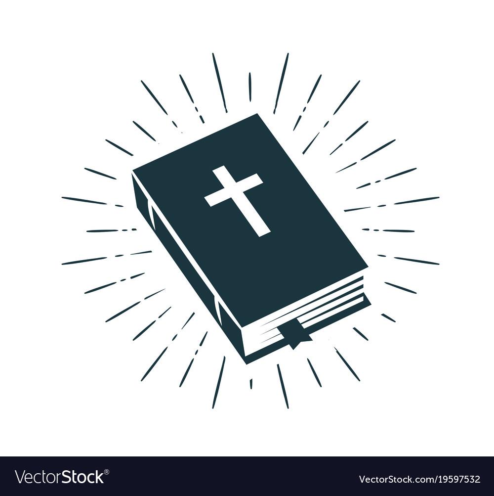 Bible scripture logo or label faith creed.