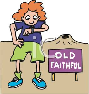 Old faithful clipart picture.
