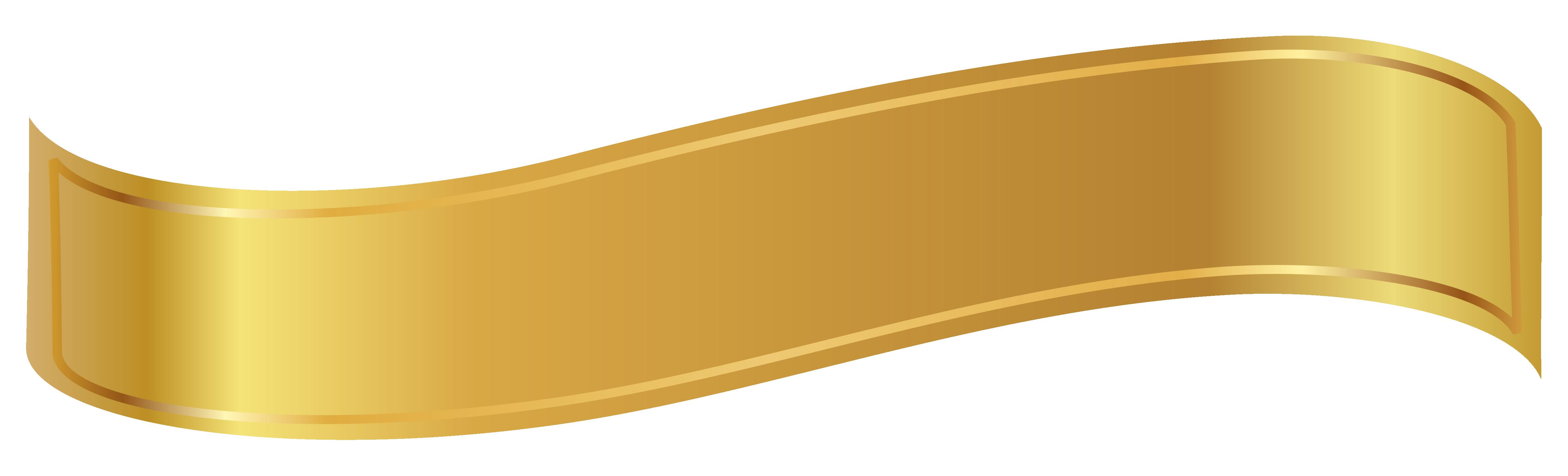 Faixa dourada png banner 4 » PNG Image.
