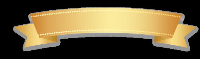 Faixa Dourada Png Vector, Clipart, PSD.