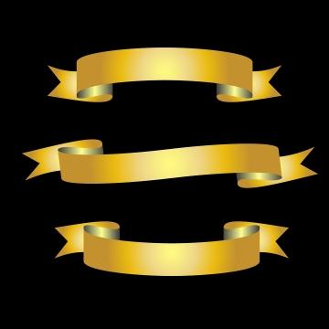 Faixa Dourada PNG Images.