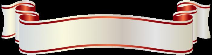 Faixa Png Banner Branca Vector, Clipart, PSD.