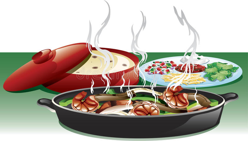 Fajita Stock Illustrations.