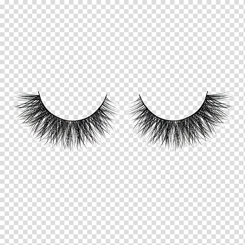 Two black false eyelashes , Cruelty.