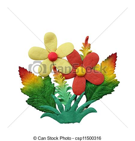Clipart of Creative fake flower isolated on white background for.