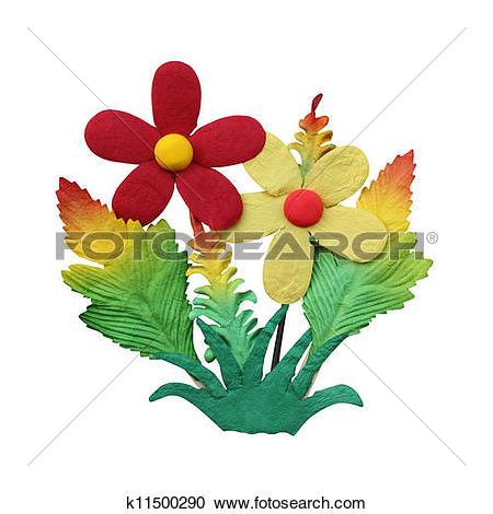 Stock Illustrations of fake flower isolated on white background.
