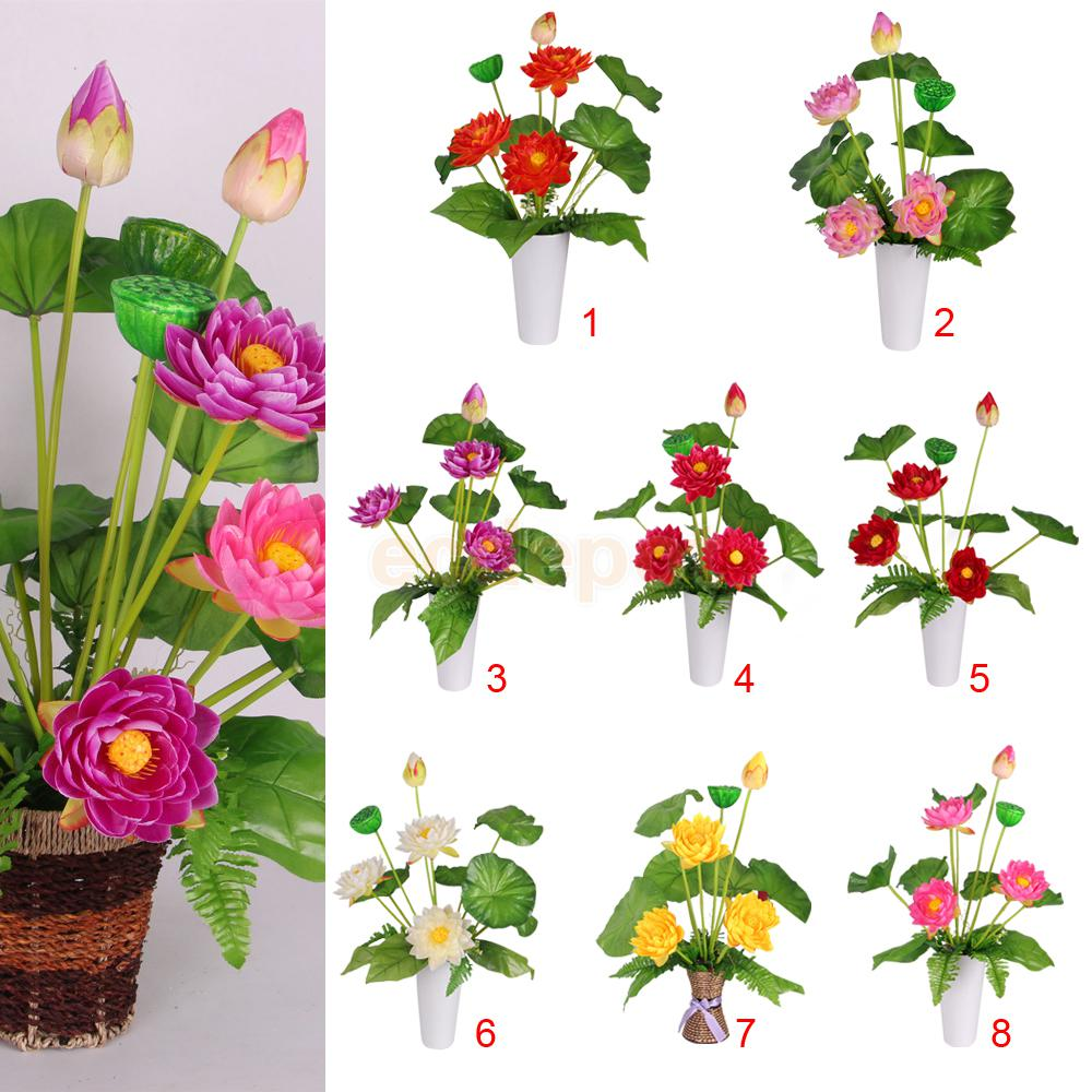 Online Buy Wholesale lotus silk flowers from China lotus silk.