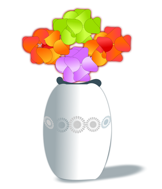 Free Clipart: Artificial flowers.