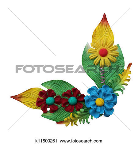 Clipart of fake flower isolated on white background for flame and.