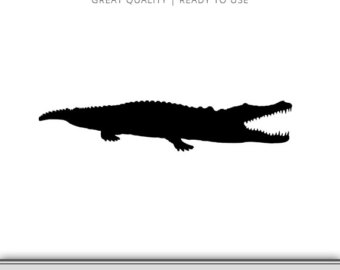 Faux crocodile clipart.
