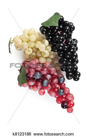 Stock Images of fake bunch of grapes k8123186.