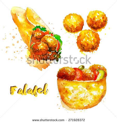 Falafel Sandwich Stock Vectors, Images & Vector Art.