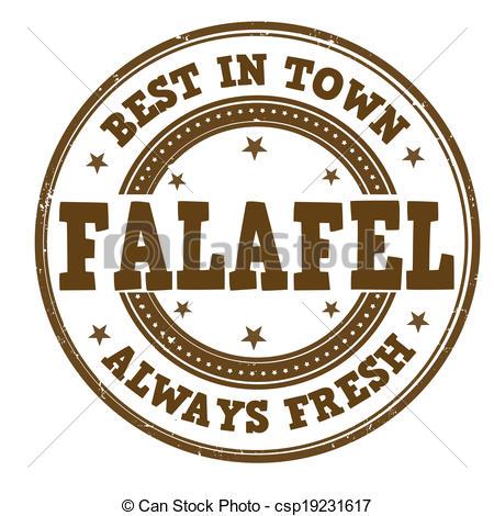 Vector Clip Art of Falafel stamp.