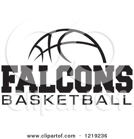 Falcon Basketball Logo Clipart.