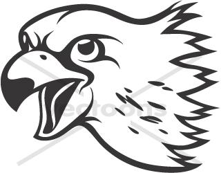 Falcon clipart head.