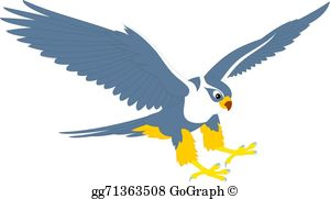 Flying Falcon Clip Art.