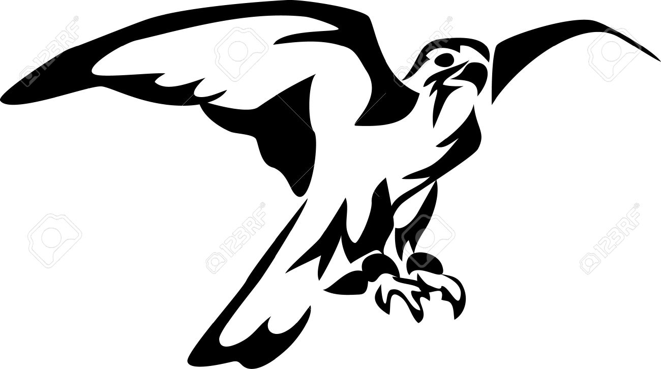 Stylized Falcon Royalty Free Cliparts, Vectors, And Stock.