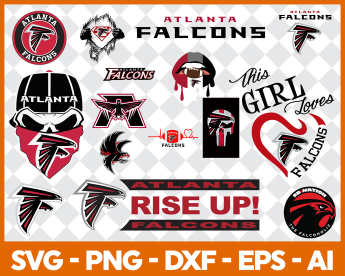 Atlanta Falcons logo, Falcons silhouette, Sports silhouette, NFL  silhouette, Atlanta Falcons SVG, Atlanta Falcons cut file, Falcons cricut.