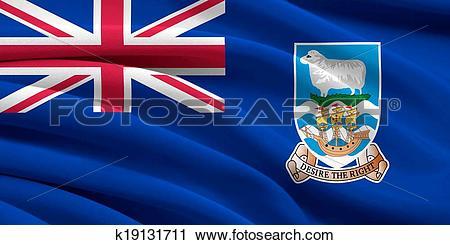 Clipart of Flag of Falkland Islands k19131711.