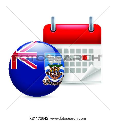 Clipart of Icon of National Day on Falkland Islands k21172642.