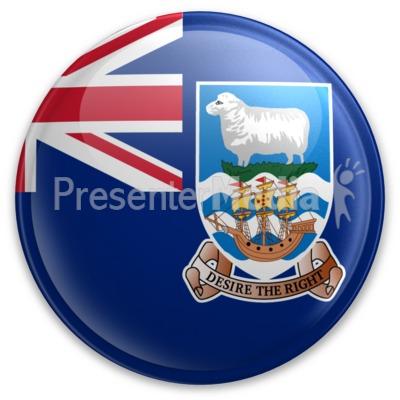 Badge of the Falkland Islands.