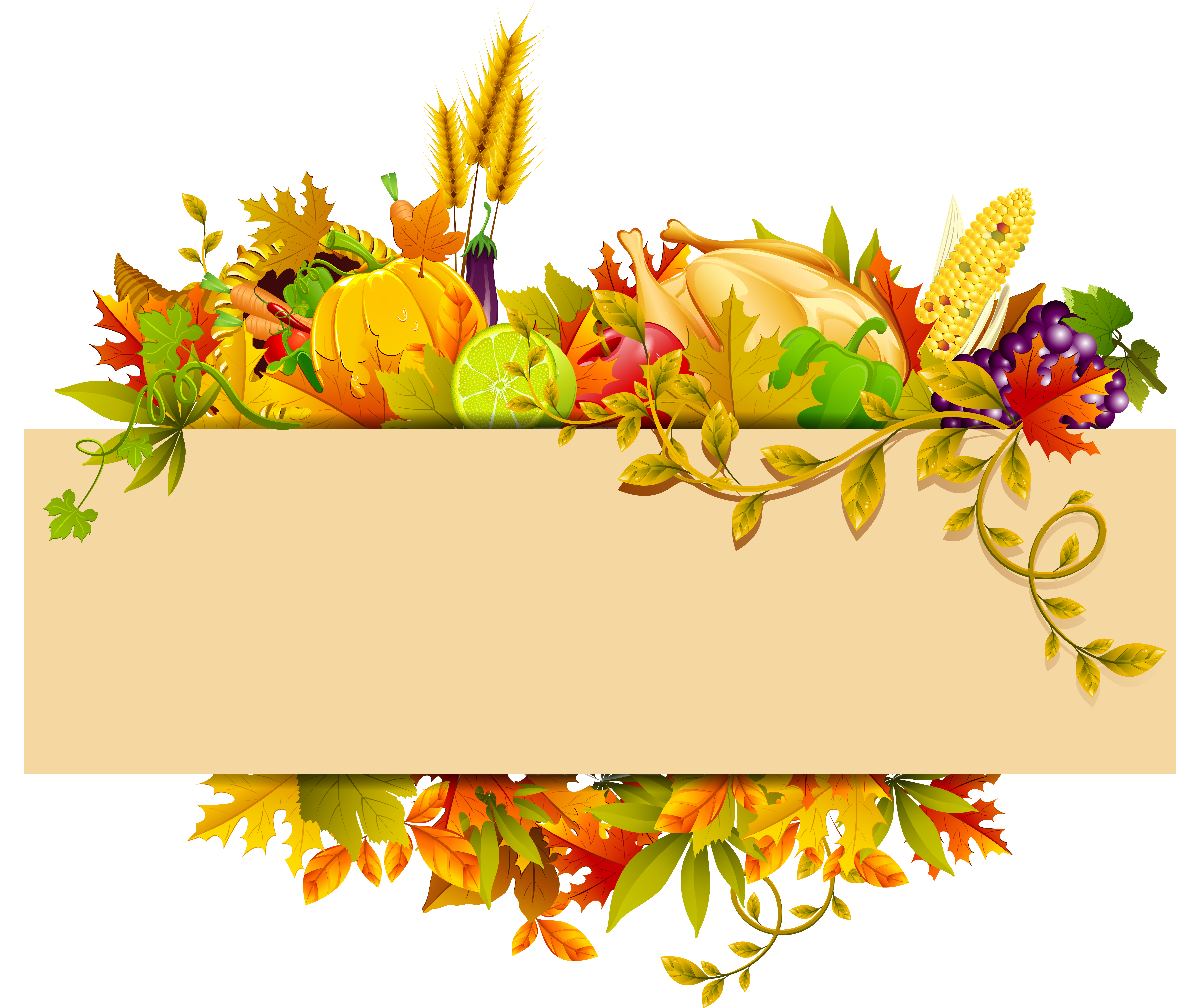 Harvest Autumn Thanksgiving Clip art.