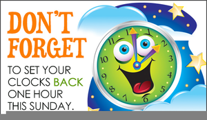 Turn Back Clock Clipart.