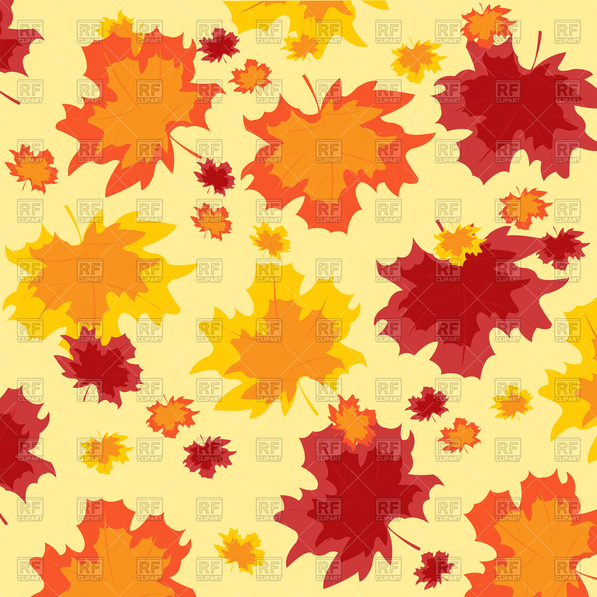 Autumn background with leaves Vector Image #91943.