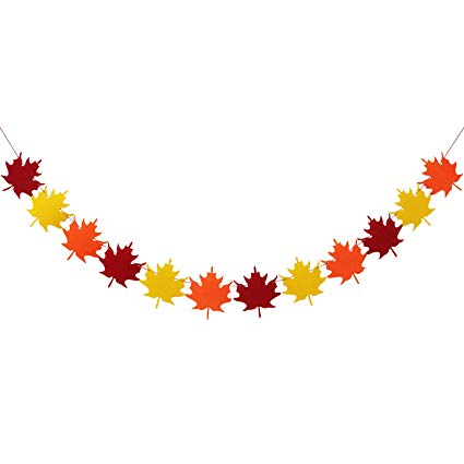 Felt Maple Leaves Garland Banner.