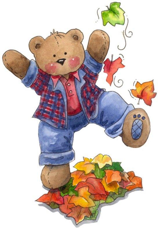 Thanksgiving clip art bear.