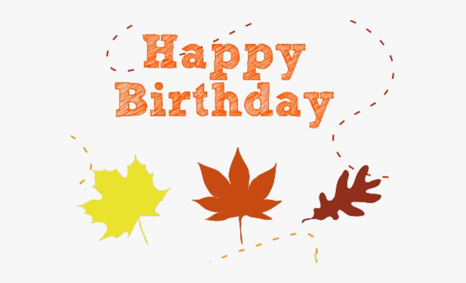 Birthday Clipart Autumn.