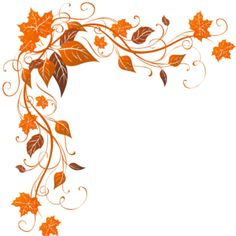 fall border Fall leaves page border clipart jpg.