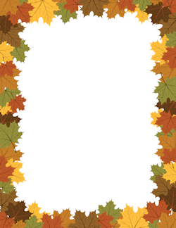 Free Fall Borders: Clip Art, Page Borders, and Vector Graphics.