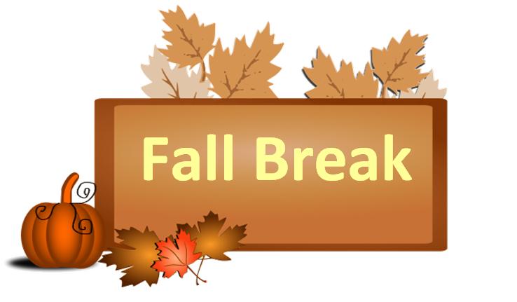 Fall break no school clipart.