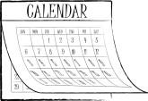 Calendar Months Menu Headers.