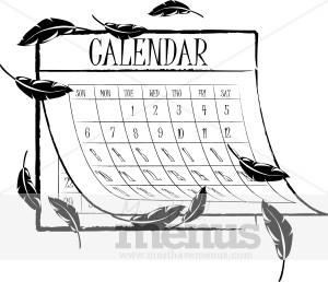 Autumn Calendar Clipart.