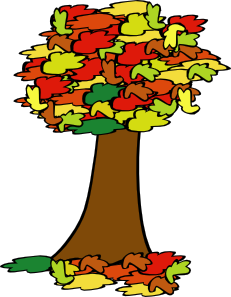 Fall Coloured Tree Clip Art at Clker.com.