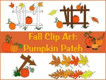 Fall Clip Art: Pumpkin patch.