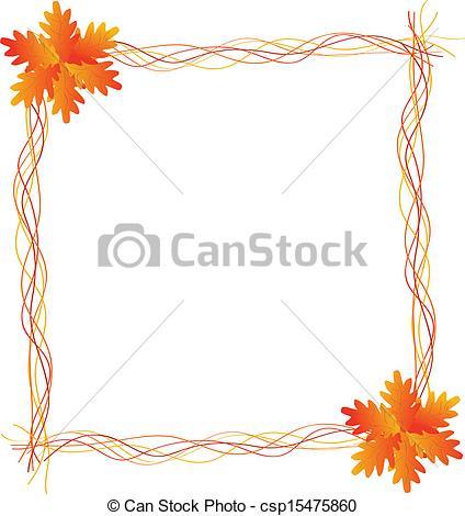 Harvest Frame with leaves.