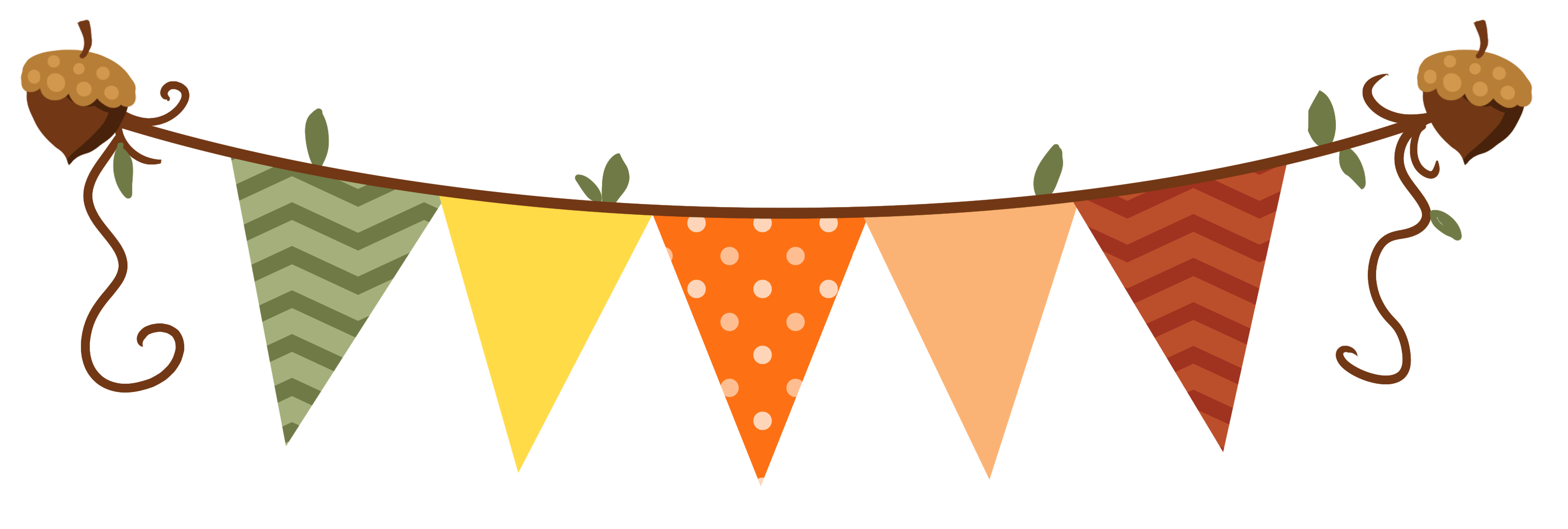 Fall clipart bunting, Fall bunting Transparent FREE for.