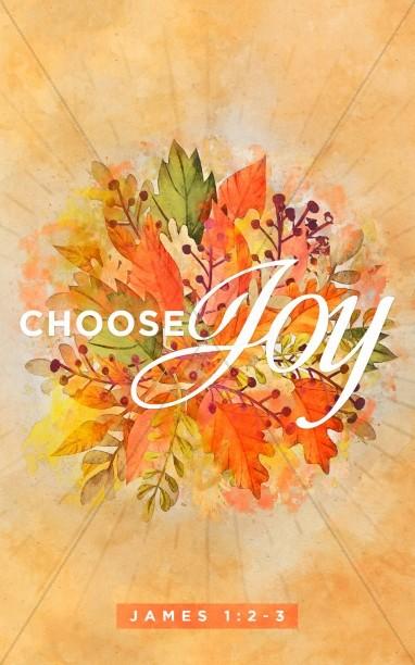 Choose Joy Church Bulletin Cover.