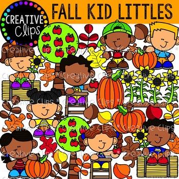 Fall Kid Littles {Fall Clipart}.